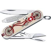Victorinox Classic SD Swiss Army Knife Bicyle w/ leather pouch Ltd Edition
