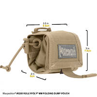 Maxpedition Rollypoly® MM Folding Dump Pouch - Khaki