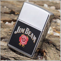 Zippo Jim Beam High Polish Chrome Lighter