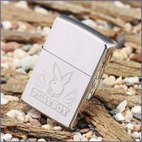 Zippo Playboy High Polish Chrome Stars Lighter