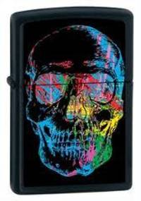 Zippo X-Ray Skull Black Matte Lighter