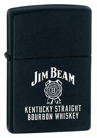 Zippo Jim Beam Kentucky Black Matte Lighter