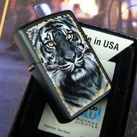 Zippo Tiger Black Matte Lighter