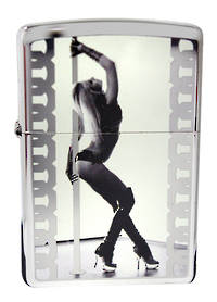 Zippo Pole Dancer, High Polish Chrome Lighter