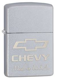 Zippo Chevy Satin Chrome Lighter