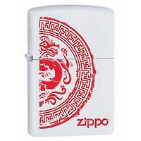 Zippo Dragon Seal - White Matte Lighter