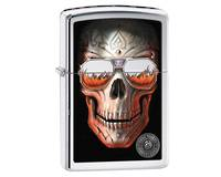 Zippo Anne Stokes Skull Sunglasses High Polish Lighter