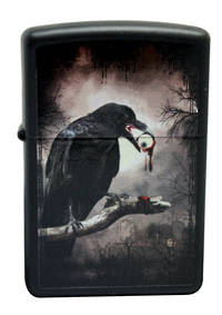 Zippo Scary Jack O Lantern Black Matte Lighter