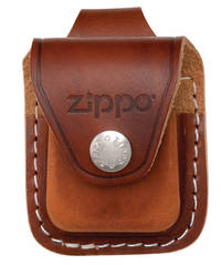 Zippo Lighter Pouch w/ Loop Brown