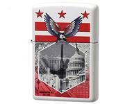 Zippo Washington DC white Matte Lighter
