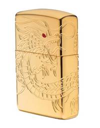 Zippo Asian Dragon gold plated Lighter - 29265