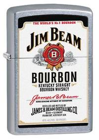 Zippo Jim Beam White Label Street Chrome Lighter